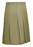 #1143/1943 Knife Pleat Skirt - Traditional Waist - Poly/Rayon - Khaki