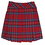 Skort - Drop Waist with All-Around Pleats - 100% Polyester - Plaid #68