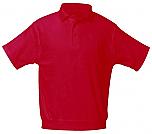 Sacred Heart Catholic School - Unisex Interlock Knit Polo Shirt with Banded Bottom - Short Sleeve