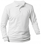 Presentation - Unisex Interlock Knit Polo Shirt - Long Sleeve