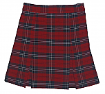 Traditional Waist Skirt - Box Pleats - 100% Polyester Plaid
