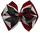 Hair Bow - Extra Large - Plaid #77