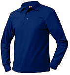 St. Mary's School - New Richmond - Unisex Mesh Knit Polo Shirt - Long Sleeve