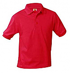 St. John the Baptist - Vermillion - Unisex Interlock Knit Polo Shirt - Short Sleeve