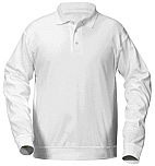 French American School of Minneapolis - Unisex Interlock Knit Polo Shirt with Banded Bottom - Long Sleeve