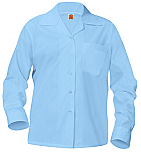 Girls Classic Collar Blouse - Long Sleeve - Light Blue