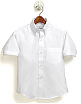Boys Oxford Dress Shirt - Short Sleeve - White