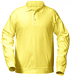 Unisex Interlock Knit Polo Shirt with Banded Bottom - Long Sleeve