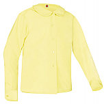 Girls Peter Pan Collar Blouse - Long Sleeve - Yellow