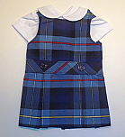 18 Inch Doll Jumper - Drop Waist with Peter Pan Blouse - Plaid #41