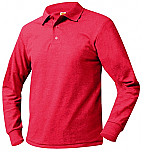 Jie Ming - Unisex Mesh Knit Polo Shirt - Long Sleeve