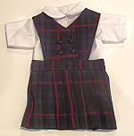 18 Inch Doll Jumper - Button Front, Knife Pleats - #98 Plaid