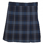 Traditional Waist Skirt - Box Pleats - Polyester/Cotton - Plaid #57
