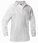 Our Lady of Peace - Unisex Interlock Knit Polo Shirt - Long Sleeve