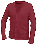 St. Hubert School - Unisex V-Neck Cardigan Sweater with Pockets