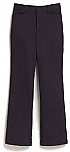 Girls Mid-Rise Flat Front Pants - Straight Leg - Stretch - #4134 - Navy Blue