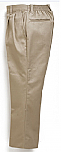 Boys Twill Pants - Pleated Front, Elastic Back - #1268 - Khaki