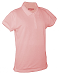Chapel Hill Academy - Girls Fitted Mesh Knit Polo Shirt - Short Sleeve