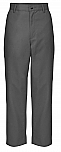 Boys Relaxed Fit Twill Pants - Flat Front - A+ #7021/7750 - Dark Grey