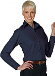 Spire Credit Union - Women's Poplin Blouse - Long Sleeve