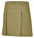 A+ #1106 - Hipster Skort - Box Pleats - Khaki