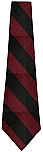 Nova Classical Academy - Neck Tie - Black and Burgundy Stripes