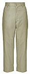 Boys Relaxed Fit Twill Pants - Flat Front - A+ #7021/7750 - Khaki